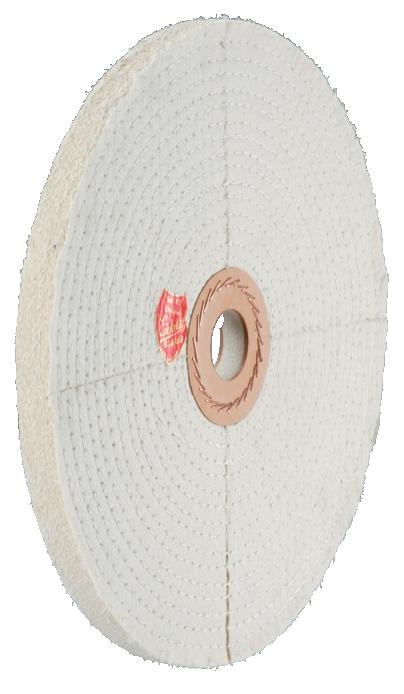 Sisal Polierscheibe aus Segmenten mit Baumwollbelag