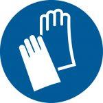 Warnsymbol Handschutz