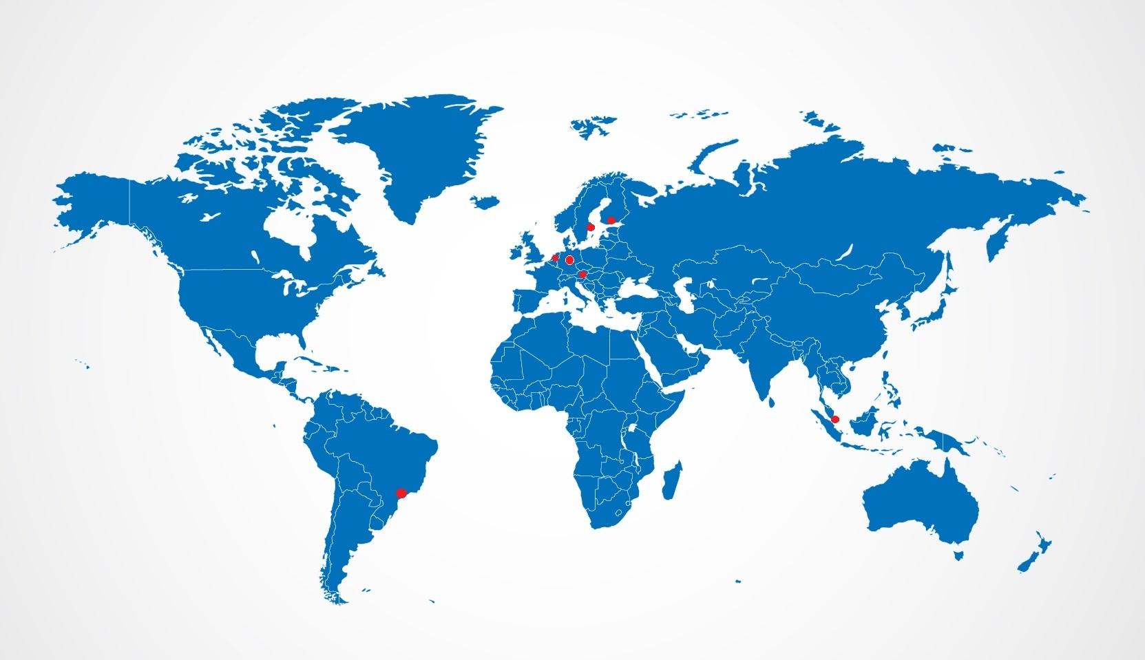Weltkarte Partnernetzwerk EICKELIT