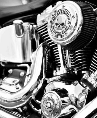 Verchromte Motorteile Motorrad
